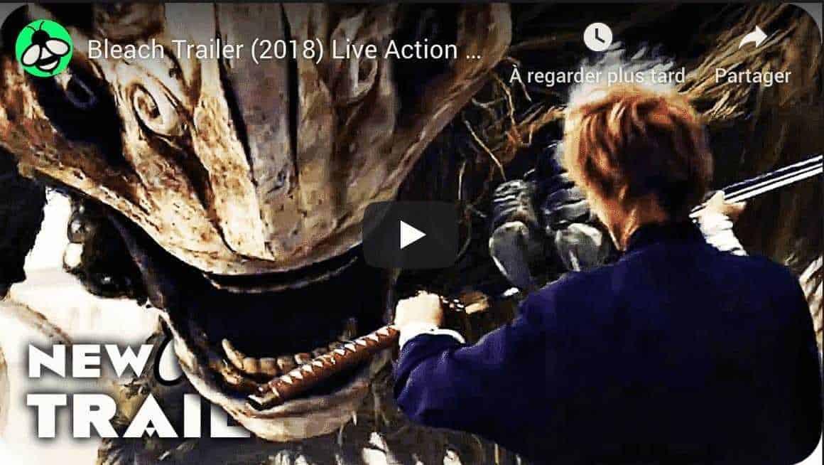 Premier Teaser du film live Bleach qui sortira durant l'été 2018. 22