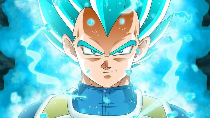 DRAGON BALLE SUPER VEGETA NOUVELLE TRANSFORMATION AU-DESSUS DU BLEU SSJ BLEU 6