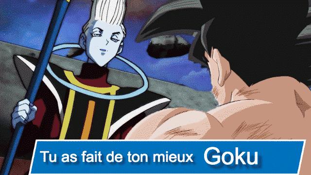 Pour quel raison, Goku sera éliminé du Tournoi du Pouvoir.