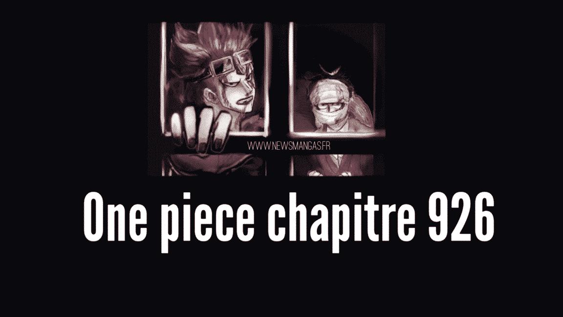Les spoilers résumé du chapitre 926 de One piece 1