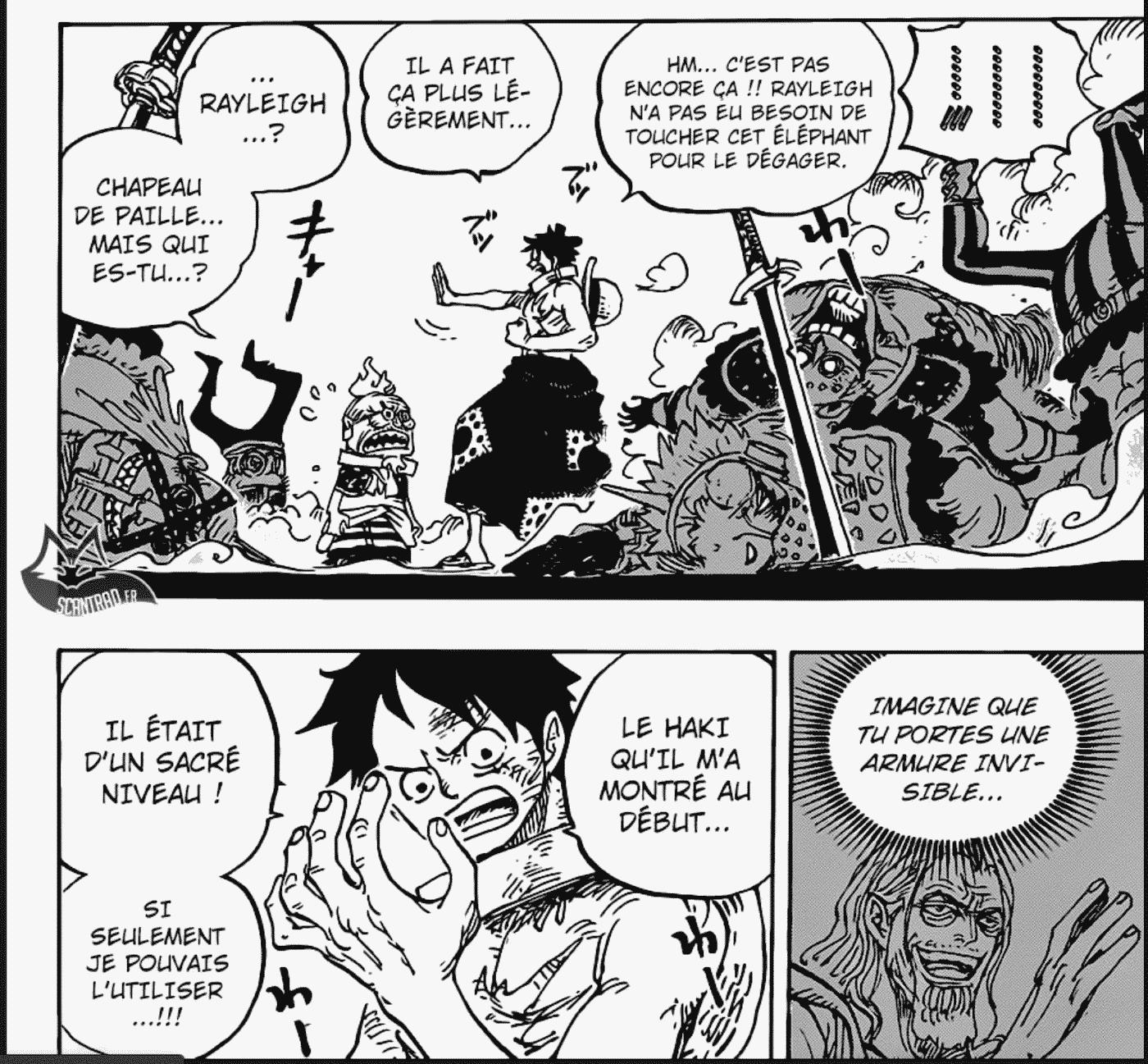 One Piece chapitre 946: Luffy a-t-il éveillé le nouveau pouvoir du Haki lorsqu'il à cassé les menottes? 2