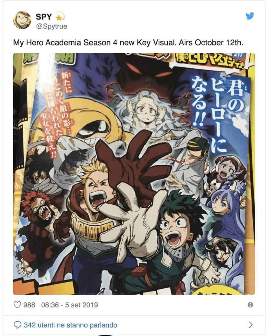 My Hero Academia - Saison 4: le nouveau visuel clé de l'anime 22