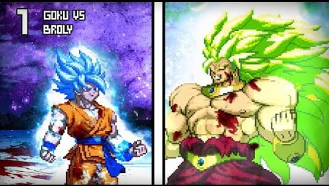 Un Combat Épic - Broly Super Saiyan Légendaire 3 VS Goku Super Saiyan Blue Fan Animation 10