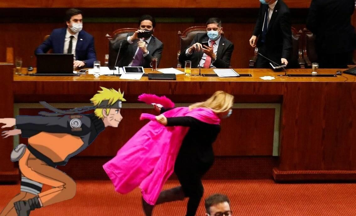 Une congressiste chilienne se fait viraliser après la course de Naruto au Congrès 8
