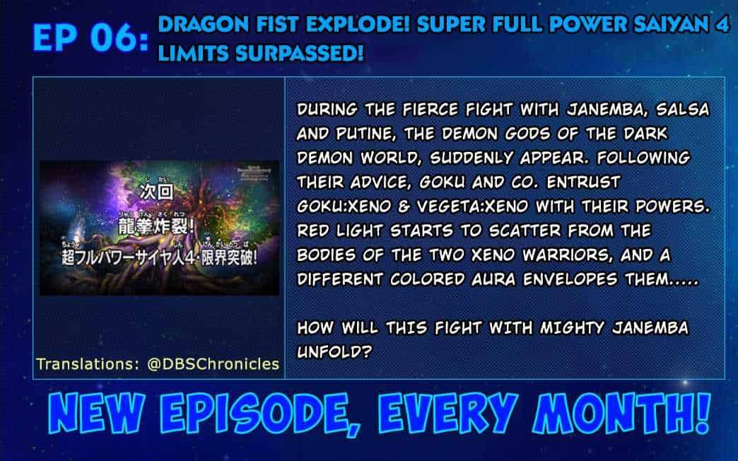 Dragon Ball Heroes suggère qu'il est possible de combiner le Ki divin avec Super Saiyajin 4 22