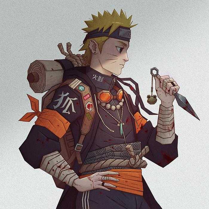 Un Fan réimagine Naruto avec un nouveau look 2