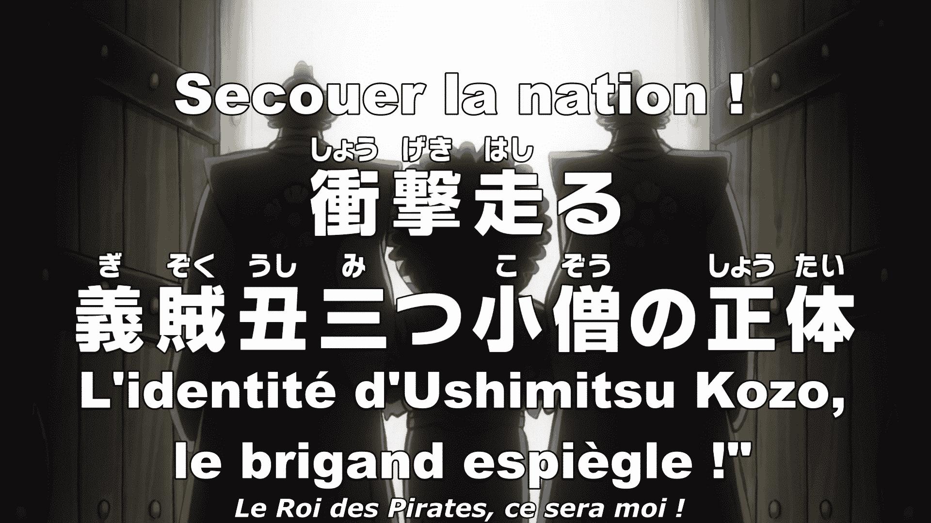 """One piece 938 vostfr Secouer la nation ! - L'identité d'Ushimitsu kozo,le brigand espiègle!"""" 19"""