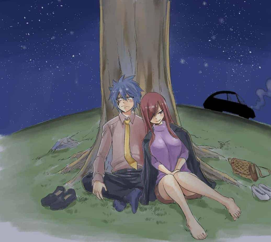Le créateur de Fairy Tail partage une belle illustration de Jellal et Erza 26