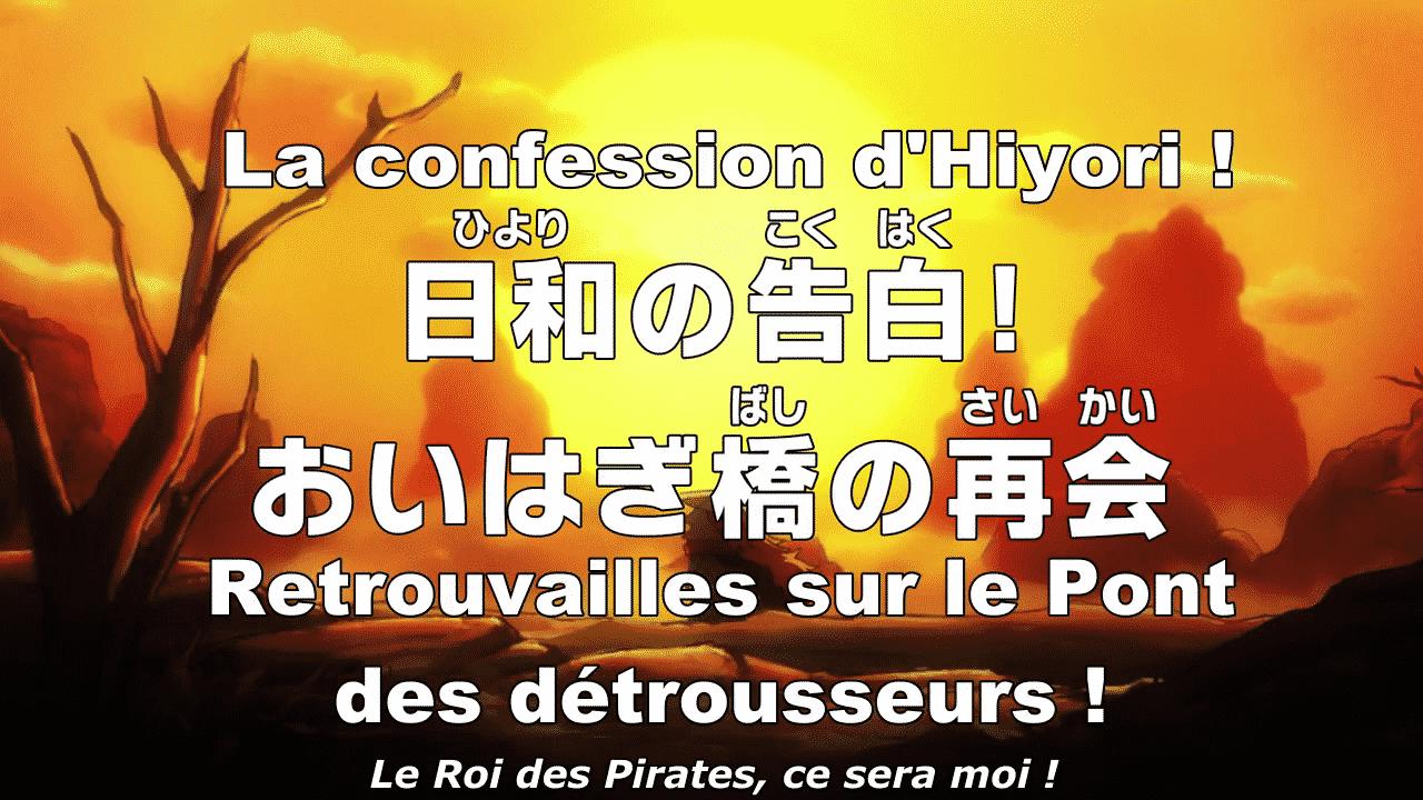 One piece 953 vostfr - La confession d'Hiyori Retrouvailles sur le Pont 23