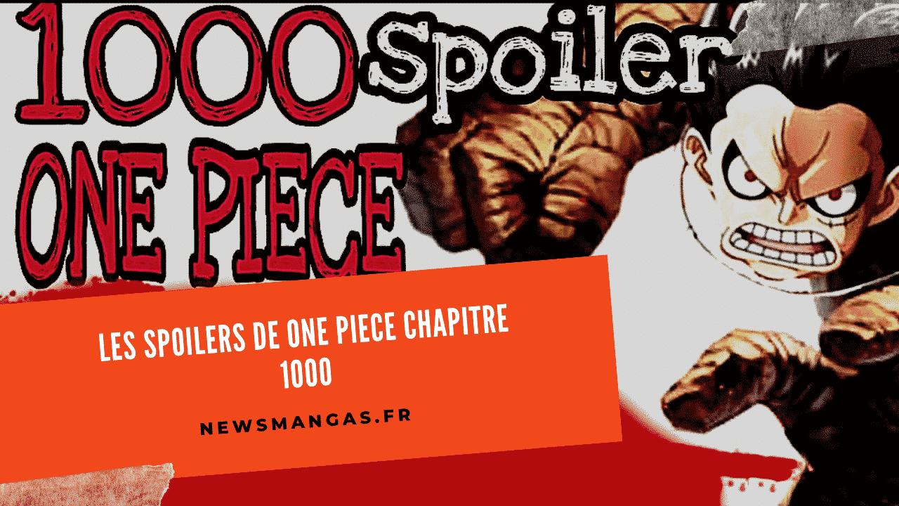Les Spoilers de One Piece Chapitres 1000 23