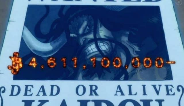 One Piece: Le niveau recherché du roi des pirates et du Yonko a été montré dans l'anime, en regardant en arrière, il y a encore des «nombres énormes» 22