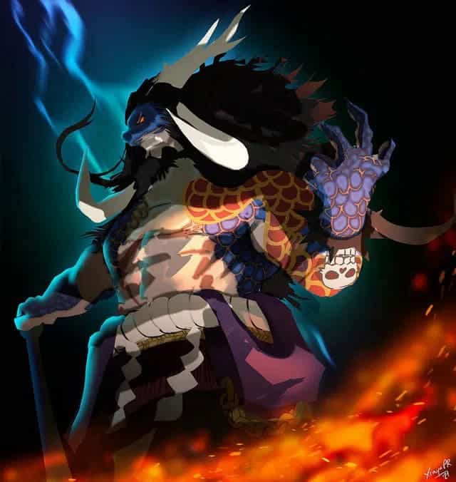One Piece chapitre 1005 Quelle sera la force de la forme mi-humaine, mi-dragon de Kaido? 25